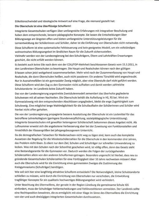 Rolf Rehfeldt, Die Grünen Kreisverband Lüneburg