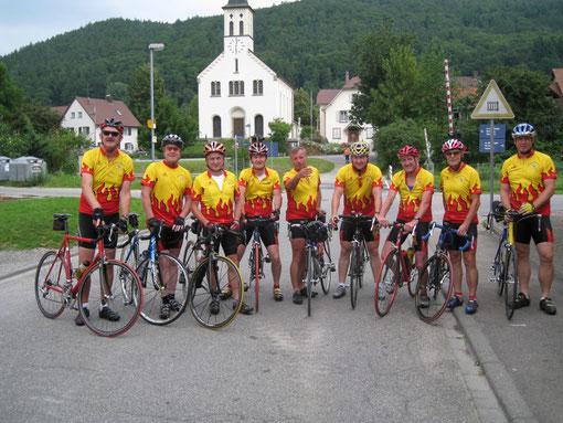 Das Radteam Stahringen im neuen Outfit
