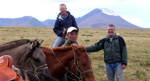 Plateau de l'Otgontenger à cheval en Mongolie