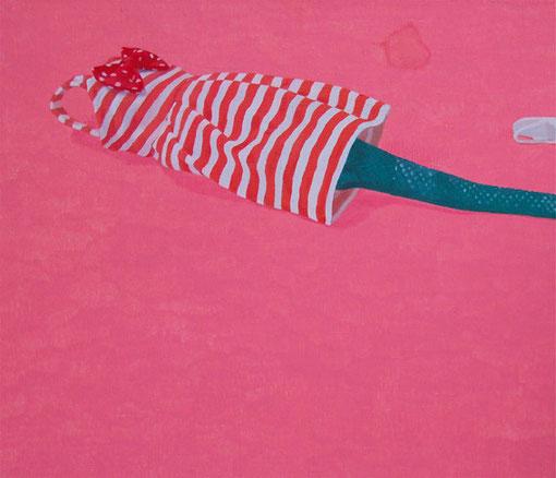 エリーちゃんの跡, 2011, 380×455mm, Oil on canvas