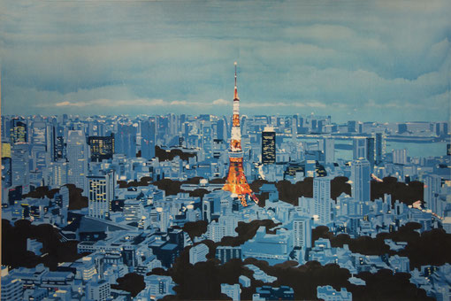 TOKYO, 2015, 1303×1940mm, Oil on canvas