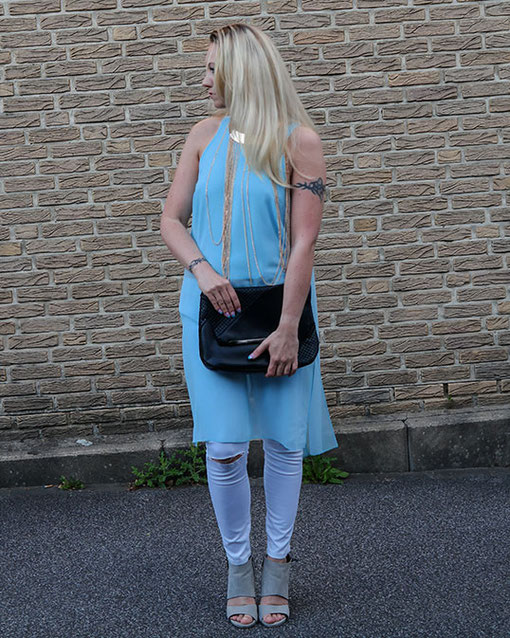 Summer Outfit | White Asos Denim Jeans & River Island Aphrodite Top | hot-port.de | 30+ Style Blog