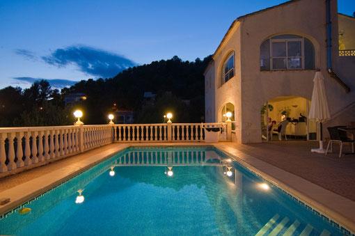 Villa Gandia Hills mit Ferienwohnung Valencia