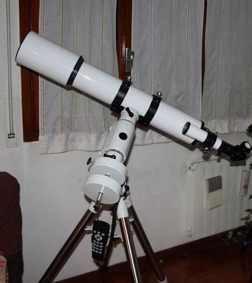 Tripletto Apocromatico 127mm f7,5 lunghezza focale 950mm