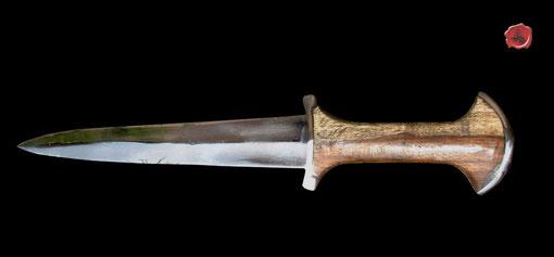 Dague Suisse - Basilard Dagger Réf.: GDFB/DG/005 Bois et acier haut en carbone