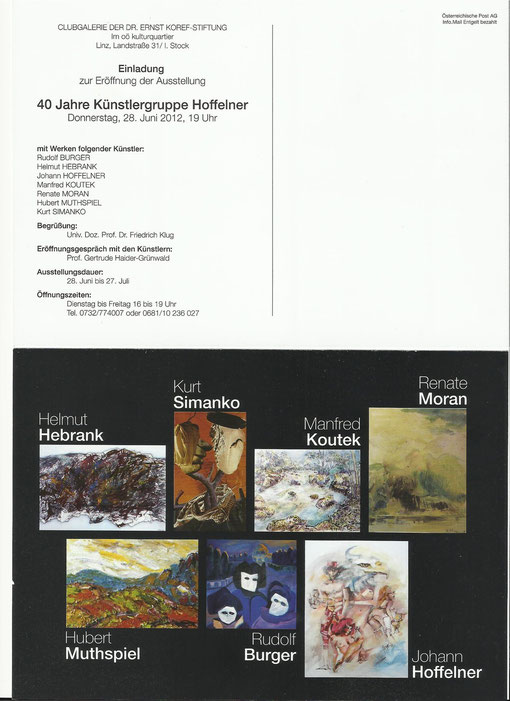 EINLADUNG - 40 Jahre Künstlergruppe Hoffelner