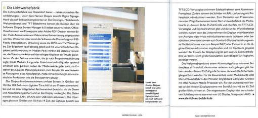 "Disipos, digitales Leitsystem in ""Werbetechnik"", Ausgabe 1-2011"