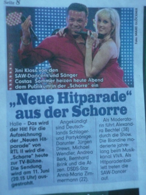 Die radio SAW Dancer in der BILD Halle am 19.05.2011