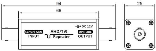 アナログHD AHD TVI用リピーター SC-MCR01 寸法・外観図01