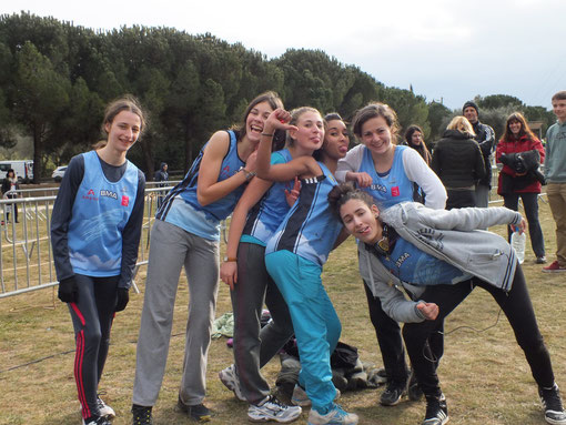 Equipe cadettes cross inter-régions Mougins