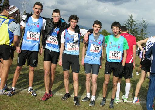 Equipe juniors cross inter-régions Mougins