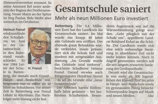 Frankenberger Zeitung 30.12.2011