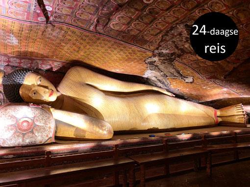Liggende Boeddha in de grottentempel van Dambulla