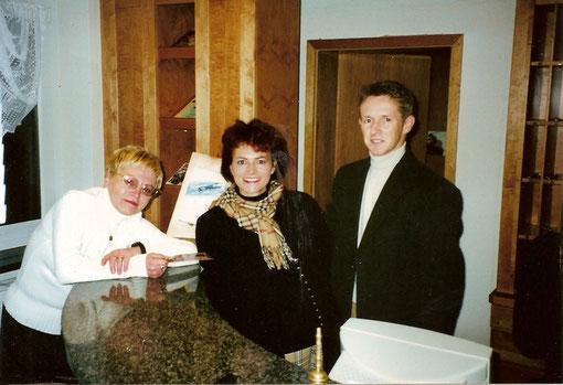 Renate mit Jens Weissflog und damaliger Ehefrau Nicola