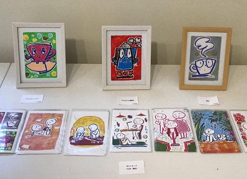 メロディー 茶谷順子 原画販売作品 可愛いイラスト 手描きイラスト ゲルマーカー