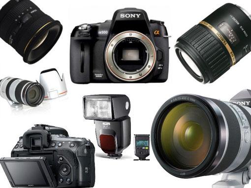meine Sony alpha 550 inkl. Fotoausrüstung *erster Teil *