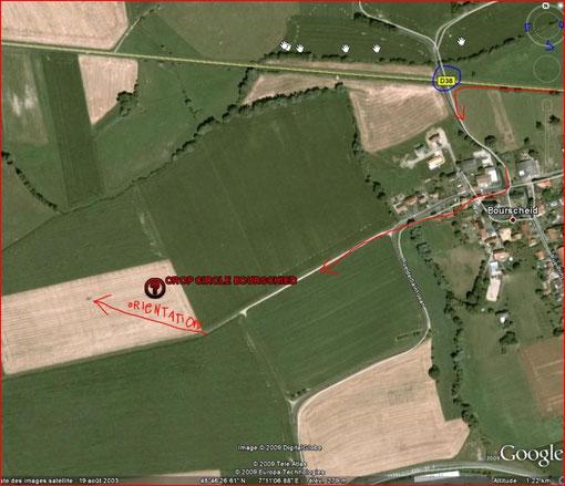 Vue satellite google relevée par Yann