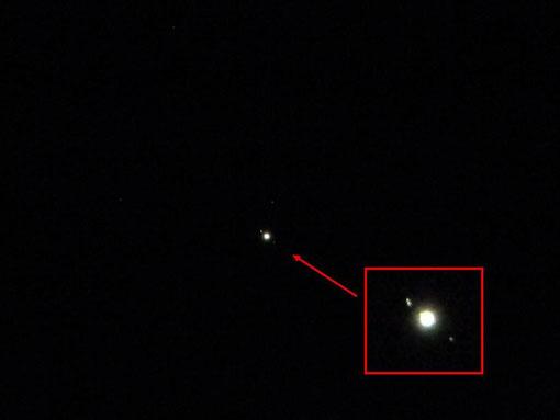 Jupiter et les satelittes galiléens - Trefle DR - Nikon Coolpix L110