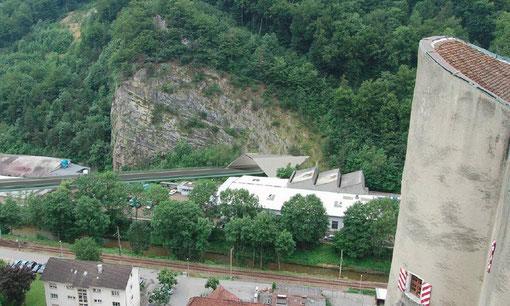 Das geplante Tunnelportal Süd