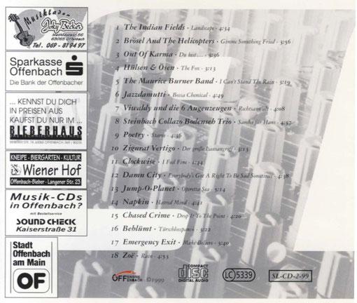 """CD-Cover Rückseite """"Schnelles Leben ... die Fortsetzung"""""""