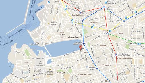 Appartement Marseille Vieux-port location saisonnière