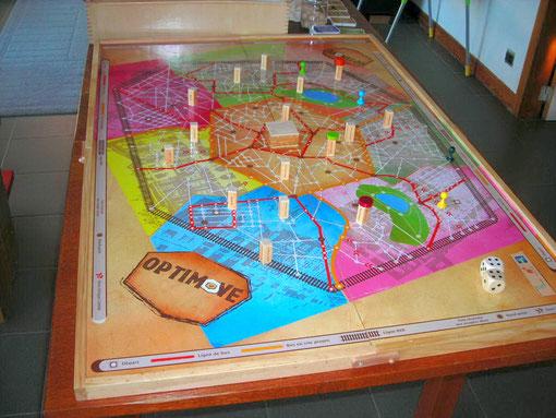 Le plateau du jeu Optimove