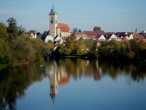 Stadtkirche St. Laurentius, gesehen von der Wörthbrücke, Foto: Manuel Werner, alle Rechte vorbehalten!