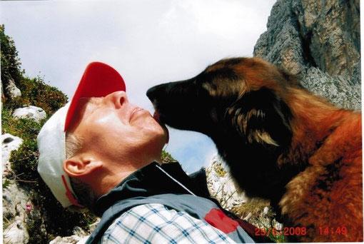 Dietmar und Fanell in den Bergen in Südtirol (D. Küttner)