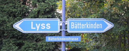 Das Restaurant Rössli liegt an der Verzweigung Lyss - Bätterkinden