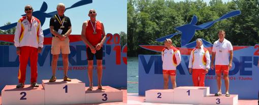 Primeras medallas Master k1 C1. foto: ECA