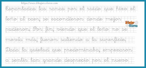 tres fábulas de Esopo en ejercicios de caligrafía