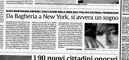 Articolo su LA SICILIA quotidiano. by Elisabetta Cannone
