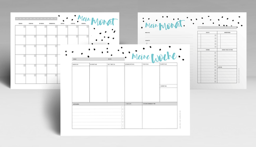 Wochenplanung, Tagesplanung, Menüplanung zum Ausdrucken auf www.alles-zum-ausdrucken.de