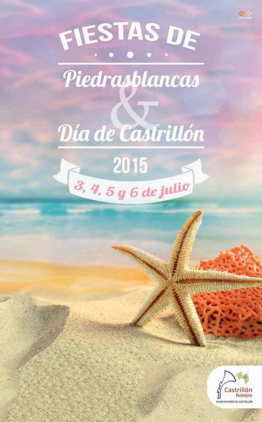 Cartel de las Fiestas de Piedras Blancas y Día de Castrillón 2015