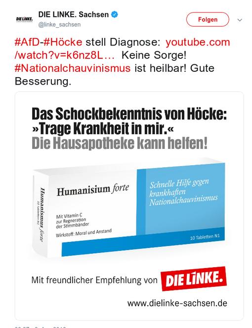 Screenshot: DIE LINKE Sachsen auf Twitter