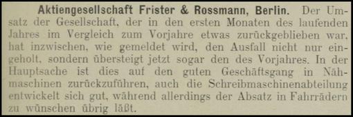 1905  OESTERREICHISCHE NAHMASCHINEN