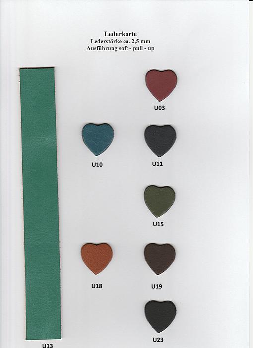 Weitere Farben sind auf Anfrage lieferbar.