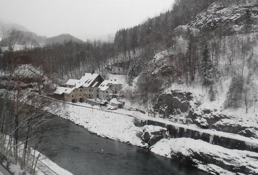 Das Flößermuseum präsentiert sich bereits im winterlichen Rahmen