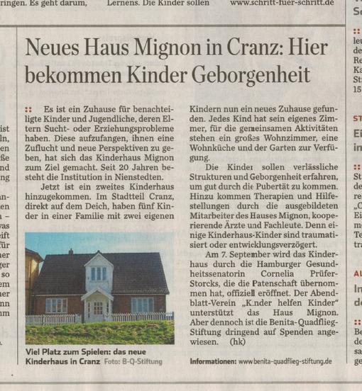 Hamburger Abendblatt vom 25.8.2012
