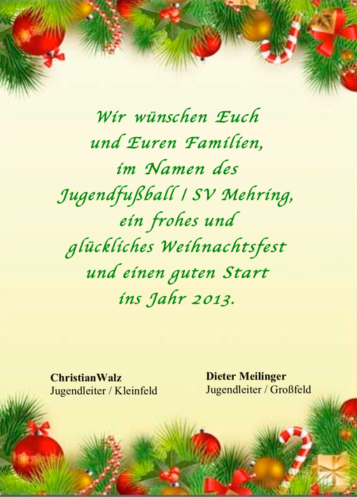 Frohe Weihnachten Gutes Neues Jahr.Der Jugendfussball Wunscht Frohe Weihnachten Und Ein Gutes