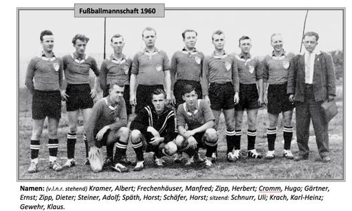 Die erste Mannschaft 1960