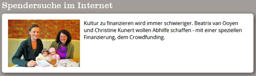 Crowdfunding, Frankfurter Neue Presse, Text und Foto: Petra Ihm-Fahle, 04.10 2013