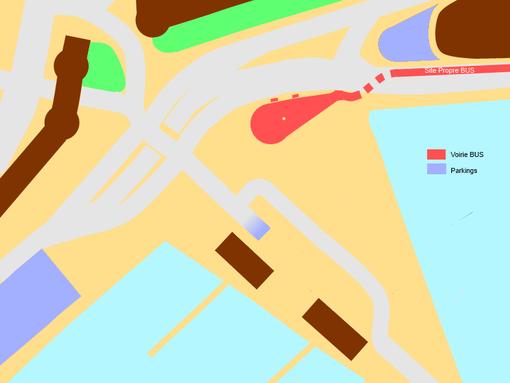 L'esplanade version 2012; l'évolution depuis 2007 est saisissante.