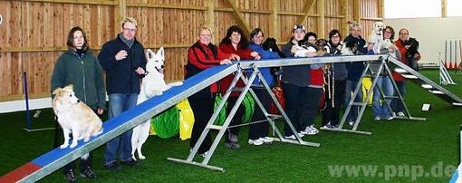 """Zufriedene Gesichter und ausgelastete Hunde waren das Ergebnis eines Seminars zu """"Agility"""" beim Hundesportverein Absdorf. −Foto: Verein"""