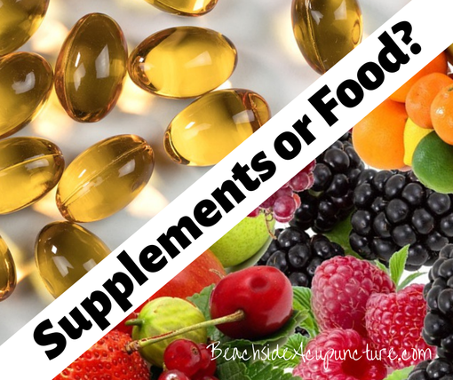 Supplements or Food? The great debate on the Beachside blog