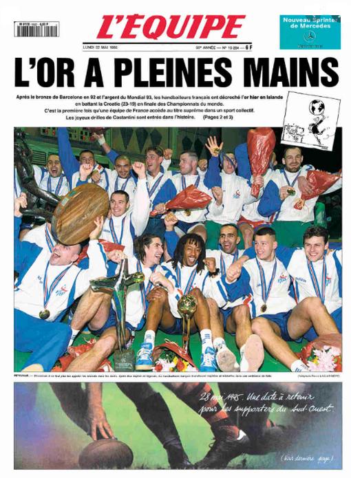 """1er titre de champion du monde des""""Barjots"""" en 1995"""