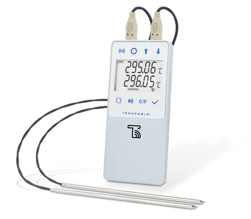 Termómetro digital con Datalogger e interface a WIFI TraceableLIVE y certificado trazable a NIST 6515