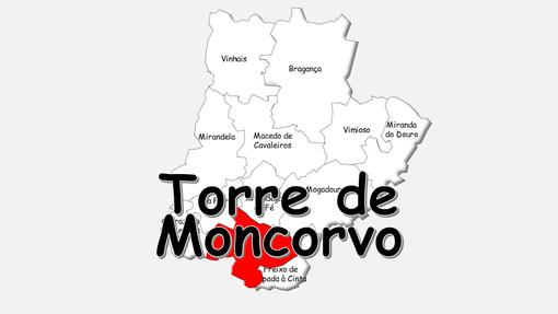 Localização do concelho de Torre de Moncorvo no distrito de Bragança