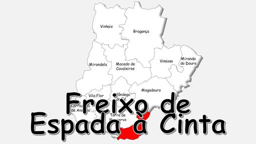 Localização do concelho de Freixo de Espada à Cinta no distrito de Bragança
