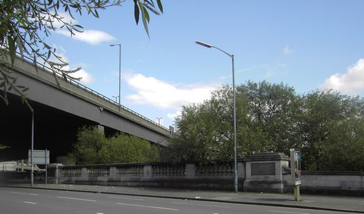 Salford Bridge with the M6 above